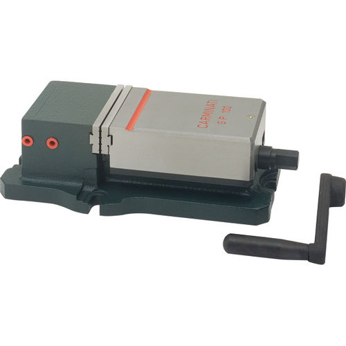 machine tool vise / pneumatic / low-profile / precision