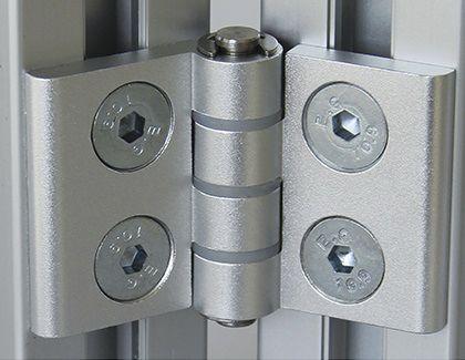 aluminum hinge / corner / screw-in / 180°