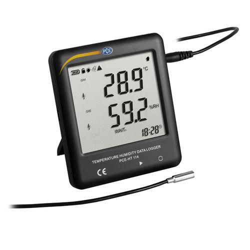 temperature and humidity data-logger / with LCD display / for refrigerators / compact