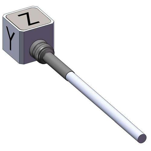 triaxial accelerometer / piezoelectric / IEPE / ultraminiature