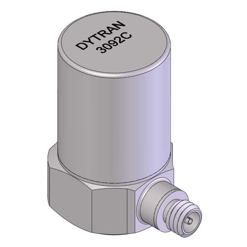 triaxial accelerometer / piezoelectric / high-temperature / compact