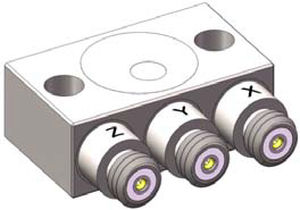 triaxial accelerometer / piezoelectric / industrial / high-temperature