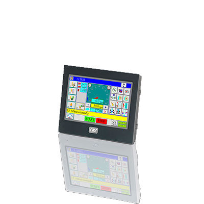 HMI with touch screen / panel-mount / 1024 x 600 / RISC