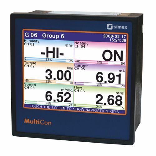 flow pressure controller / differential / digital / gas