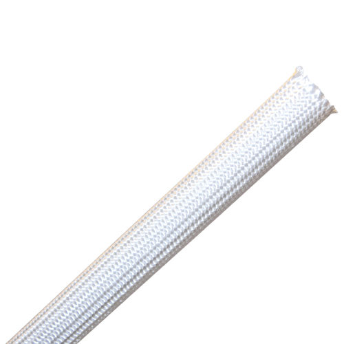 braided sleeve / thermal protection / for cables / silica fiber