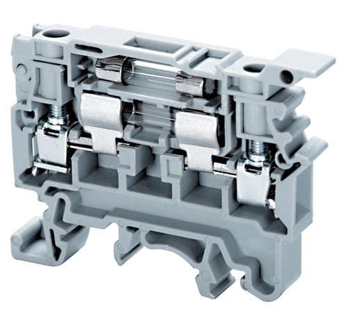 DIN rail-mounted terminal block / feed-through / fused