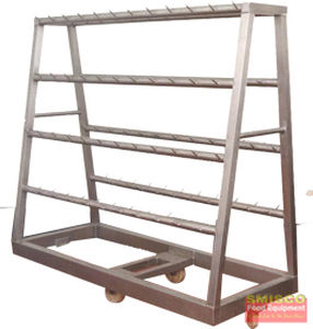 transport cart / stainless steel / for meat / with swivel casters