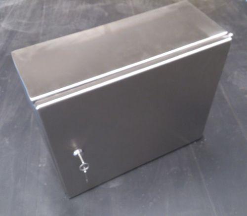 rectangular enclosure / stainless steel / with door / lockable