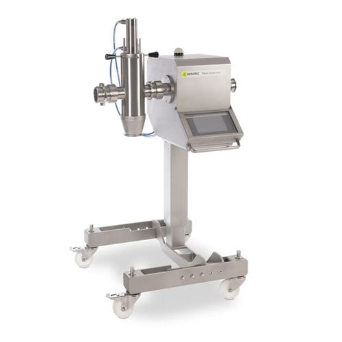liquid metal detector / for pipelines / for the food industry