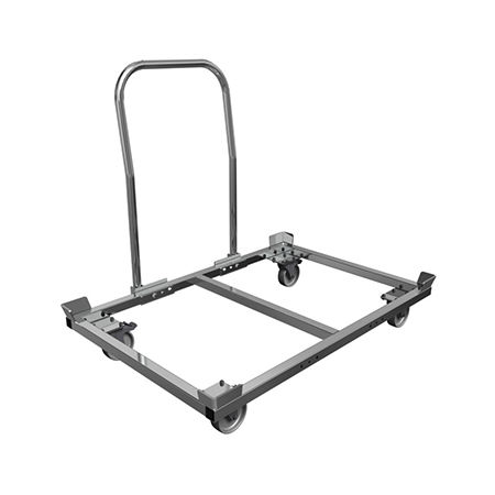 transport cart / galvanized steel / with swivel casters / stackable