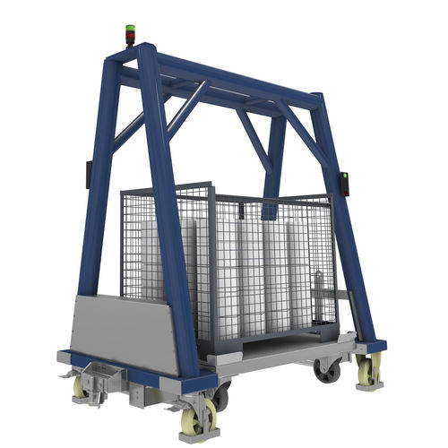 polyurethane cart / portal / for Euro containers / pallet box
