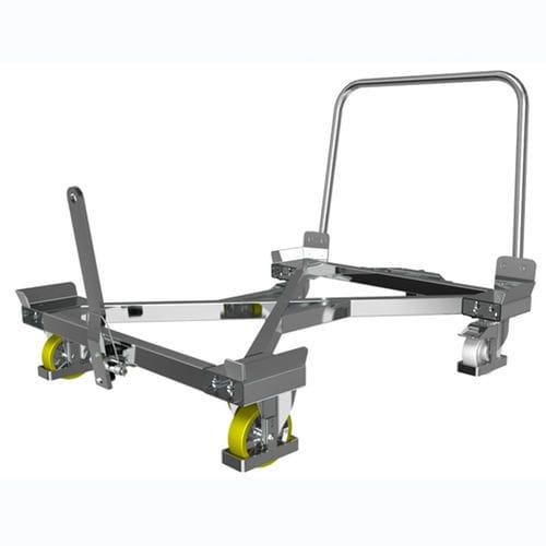 steel cart / galvanized steel / platform / pallet box