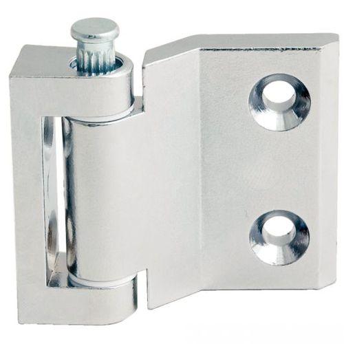 zamak hinge / corner / screw-in / 180°