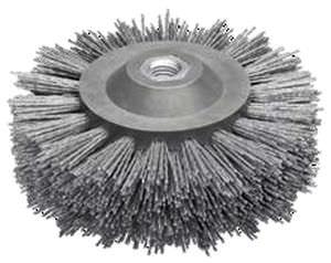 circular brush / cleaning / abrasive / finishing