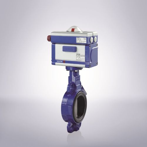 butterfly valve / for water / seat / double