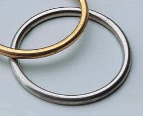 spring-loaded seal / profiled / C-ring / metal