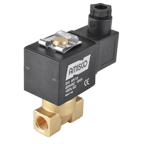 direct-operated solenoid valve / 2/2-way / NC / for steam