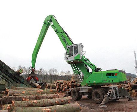 wheel-mounted material handler / diesel fuel / hydraulic
