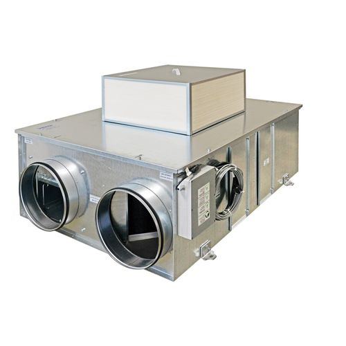 heat-recovery ventilation unit / with exchanger