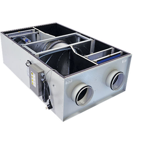 heat-recovery ventilation unit / with rotary heat exchanger