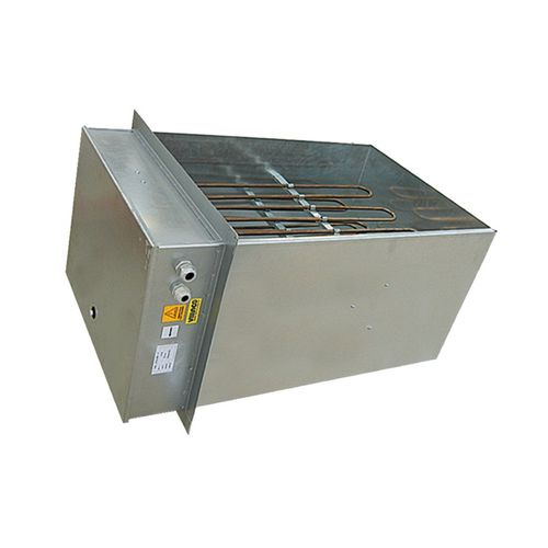 air heater / duct / stainless steel / flange