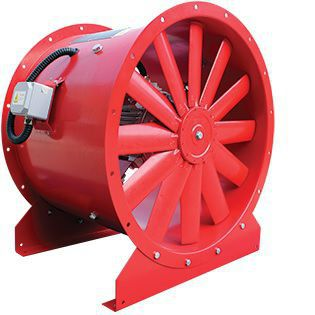 fume exhaust fan / axial / with adjustable blades / high-volume