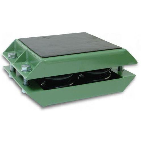 rectangular anti-vibration mount / rubber / for heavy-duty applications / spring damper