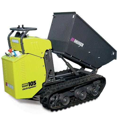 crawler mini dumper / electric / front-loading / lift-skip