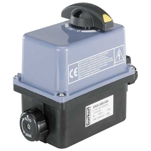 electric valve actuator / rotary / compact / adjustable