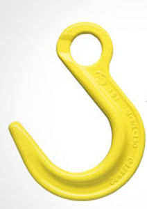 lifting hook / with eye / for heavy loads / steel