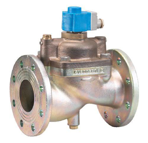 pilot-operated solenoid valve / 2/2-way / NC / water