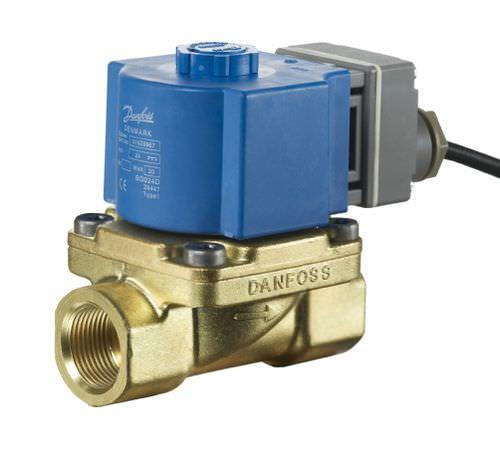 pilot-operated solenoid valve / 2-way / NC / water