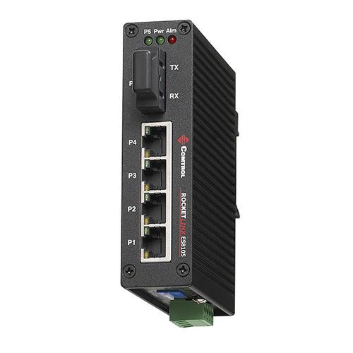 unmanaged network switch / 5 ports / gigabit Ethernet / fiber optic