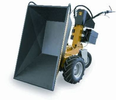 rubber-tired mini dumper / electric / front-loading