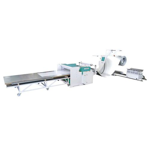 metal cut-to-length cutting line / sheet metal / numerical control / stacking