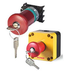 key lock switch / mushroom / single-pole / emergency stop