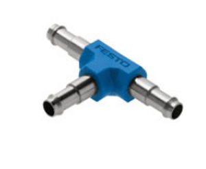barbed fitting / T / for compressed air / aluminum