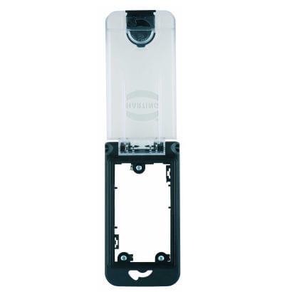 panel-mounted electrical socket