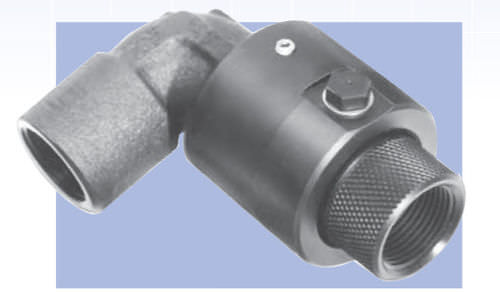 screw-in fitting / 90° angle / hydraulic / pneumatic