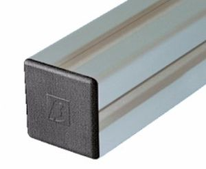 non-threaded end cap / square / ABS / for profiles