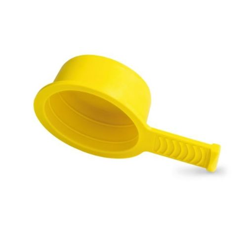 threaded cap / round / polyethylene