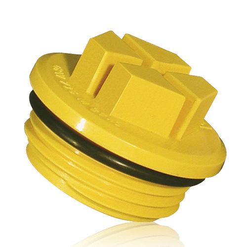 toroidal plug / threaded / plastic / leak-proofing