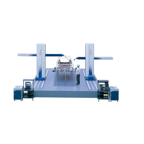 dual horizontal arm coordinate measuring machine / for large parts / multi-sensor / on air bearings