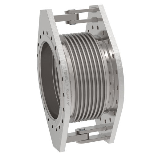 metal pipe expansion joint / round / flange / weld-on