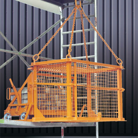 wood pallet box / metal / wire mesh / protection