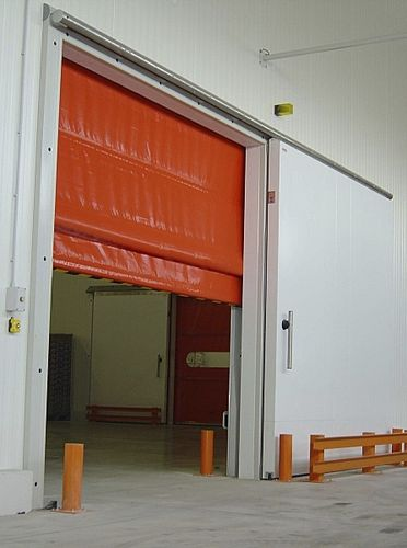 fold-up door / PVC / for cold storage / industrial