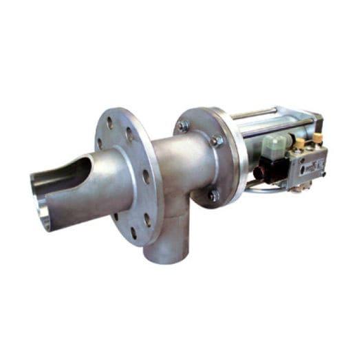 powder sampler / pneumatic piston / stainless steel / compact
