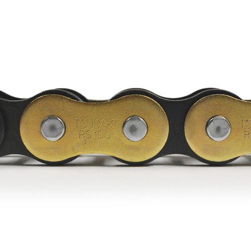 power transmission chain / steel / zinc-plated steel / roller