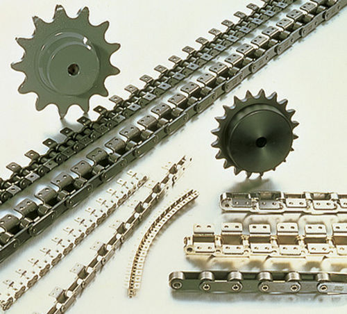 steel conveyor chain / small-size / double-pitch