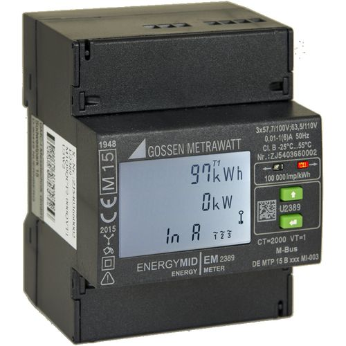 three-phase electrical energy meter